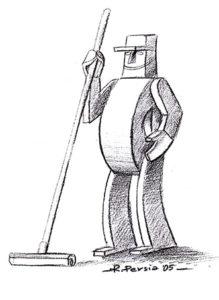 mascotte per azienda - matita